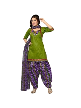 Picture of 2001 Green and Violet Salwar kameez