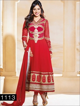 Picture of 1113 Red and Golden Anarkali Suit