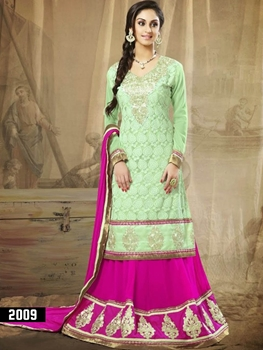 Picture of 2009 Light Green and Magenta Lehenga Choli