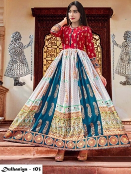 Picture of 103 Exclusive Designer  Anarkali Style Kurti Collection