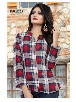 Picture of PURVI105 Purvi Rayon Shirt Collection