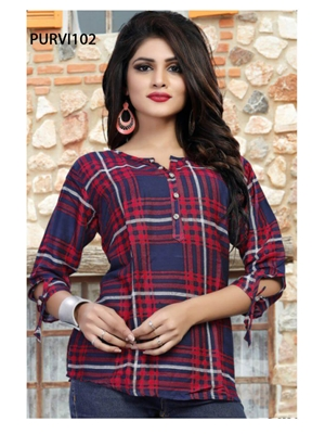 Picture of PURVI102 Purvi Rayon Shirt Collection