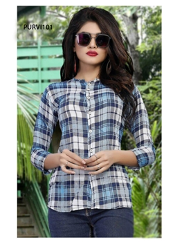 Picture of PURVI101 Purvi Rayon Shirt Collection