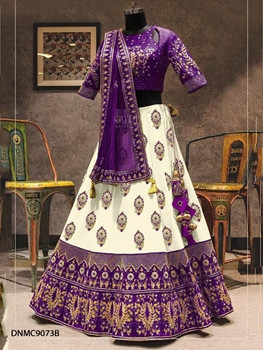 Picture of DNMC9073B Purple Lehenga Malbari Silk Embroidery Work Collection
