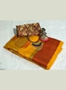 Picture of Yellow Designer Banarasi Silk Saree