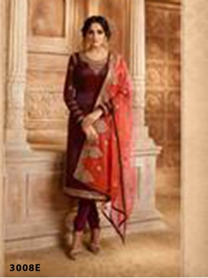 Picture of R3008E Georgette  With Embroidery work Designer Suit