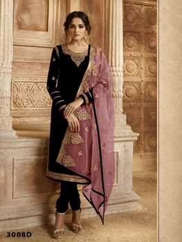 Picture of R3008D Georgette  With Embroidery work Designer Suit