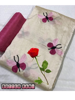Picture of Zarna008  Butterfly Silk Cotton Saree Collection