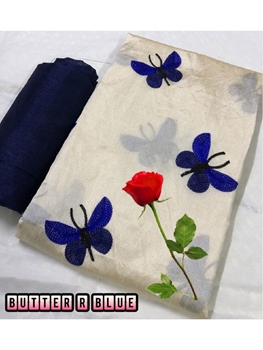 Picture of Zarna003  Butterfly Silk Cotton Saree Collection
