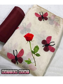 Picture of Zarna001  Butterfly Silk Cotton Saree Collection