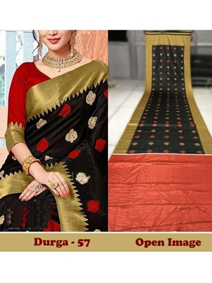 Picture of DURGA57 Designer Satin Gota Digital Print Saree