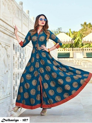 Picture of 107 Exclusive Designer  Anarkali Style Kurti Collection