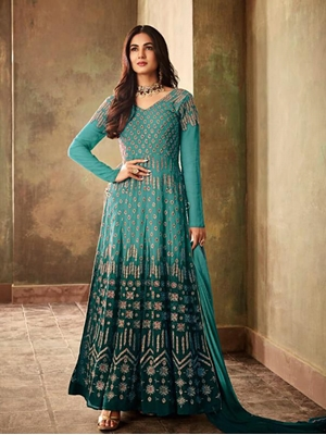 Picture of 6706A   Fantastic Padding Georgette With Fancy Anarkali Suit Collection