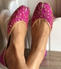 Picture of Purple Gold Bridal Shoes
