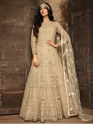 Picture of 7201A Heavy Net Anarkali Suit Collection