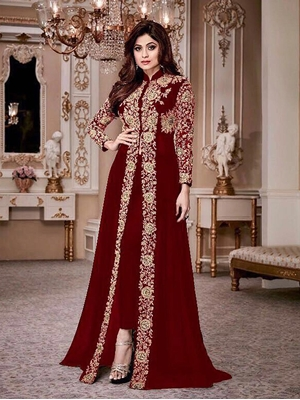 Picture of 2202D Pakistani Frock Top Style Collection