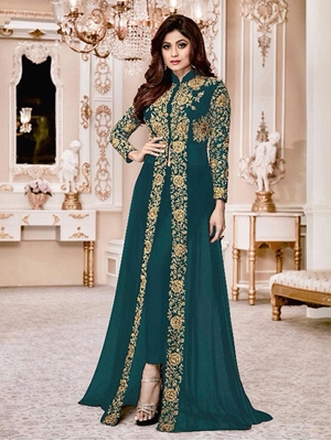 Picture of 8001G Shamita Gold Designer Suit Collection