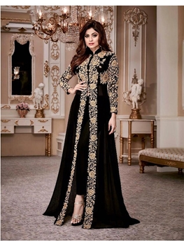 Picture of 8001A Shamita Gold Designer Suit Collection