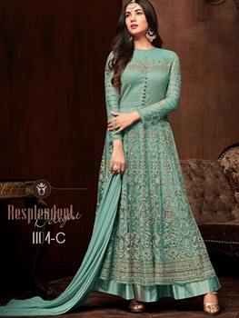 Picture of 1104D Heavy Embroidered Net Anarkali Collection