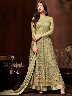 Picture of 1104C Heavy Embroidered Net Anarkali Collection