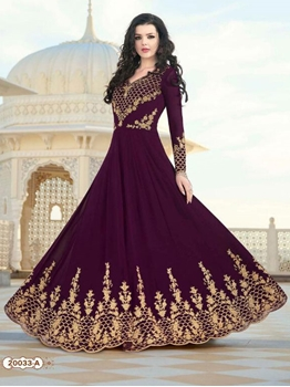 Picture of 20033 A Heavy Faux Georgette Designer Anarkali Suit