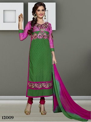 Picture of 12009 Green Designer Straight Suit