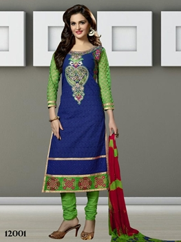 Picture of 12001 Blue Designer Straight Suit