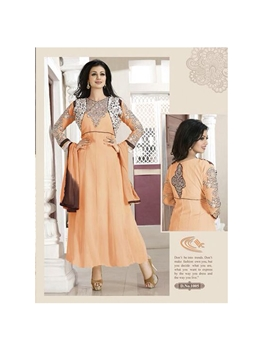 Picture of 1005Light Orange Party Wear Georgette Anarkali Suit