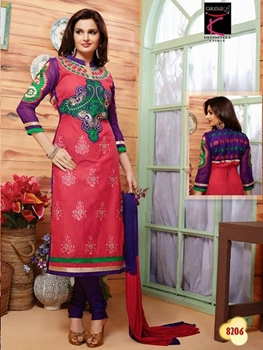 Picture of 8206 Pink and Violet Straight Suit