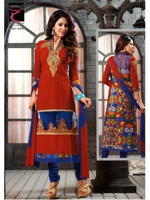 Picture of 8305 Red and Blue Straight Suit