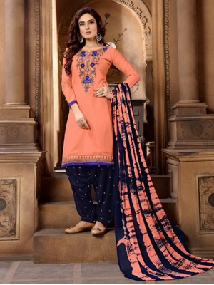 Picture of P1007 Heavy Embroidery Patiala Collection