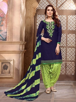 Picture of P1002 Heavy Embroidery Patiala Collection