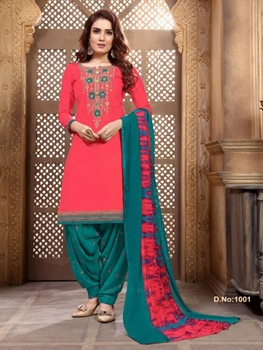 Picture of P1001 Heavy Embroidery Patiala Collection