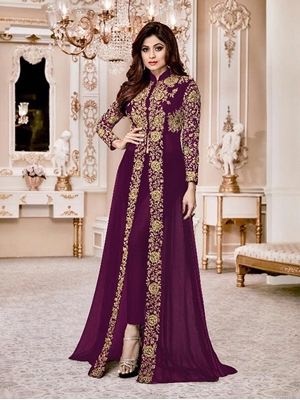 Picture of 8001K Shamita Gold Designer Suit Collection