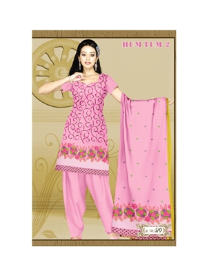 Picture of 510HotPink Karachi Cotton Dress Material