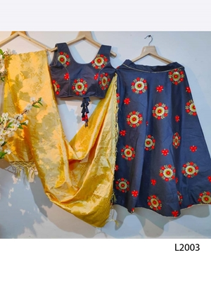 Picture of L2003 Designer Satin Malbury Lehnga Collection