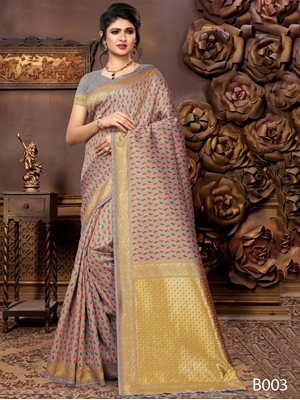 Picture of B003 Banarsi Silk  Designer Saree Collection