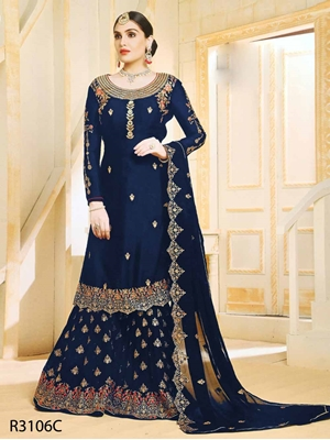 Picture of R3106C Designer Sharara Suit Collection