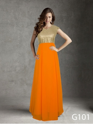 Picture of G101 Olay Orange Gown Collection