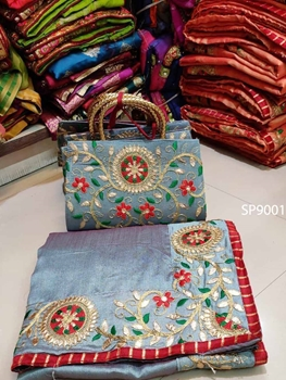 Picture of 9001 Designer Saree With Purse Collection