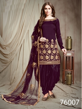 Picture of 76007 Designer Patiala Salwar Suit Collection