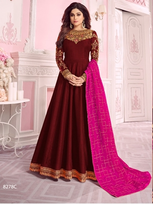 Picture of 8278C Designer Anarkali Suit Collection