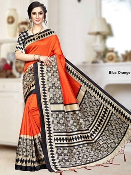Picture of BibaOrange Banarasi Art Silk Saree Collection