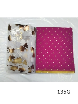 Picture of 135G Star Foil Nazmin Saree Collection