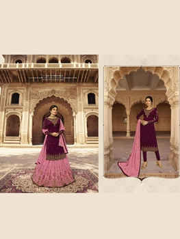 Picture of 22512B Fancy Sharara Plazo Suit Collection