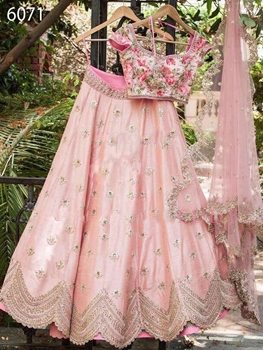 Picture of 6071 Pink Designer Lehenga Choli Collection
