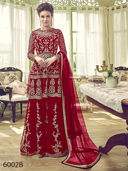 Picture of 6002B Designer Sharara Suit Collection