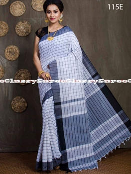 Picture of 115E Handloom Cotton Checks Saree Collection