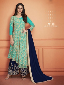 Picture of 731D Designer Plazo Suit Collection