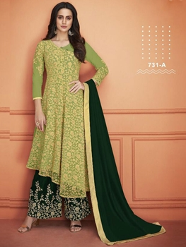 Picture of 731A Designer Plazo Suit Collection